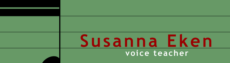 Susanna Eken Voice Teacher